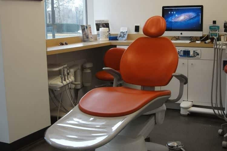 Dental chair in our Reston office